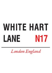 White Hart Lane Metal Sign