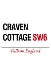 Craven Cottage Metal Sign