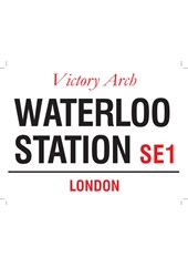 Waterloo Station Metal Sign