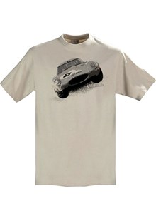 Gritty Marques Jaguar E-type T-Shirt Sand
