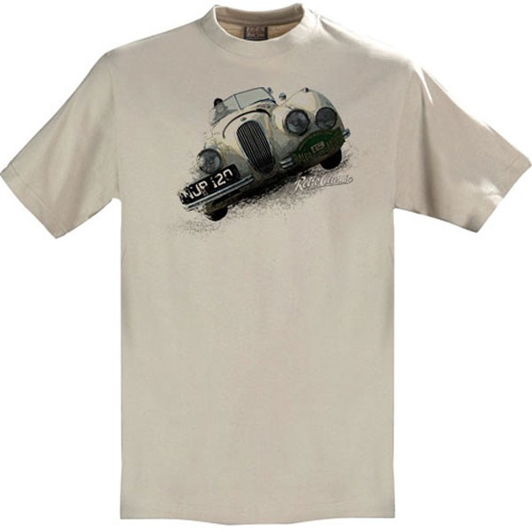 Gritty Marques Jaguar XK120 T-Shirt Sand - click to enlarge