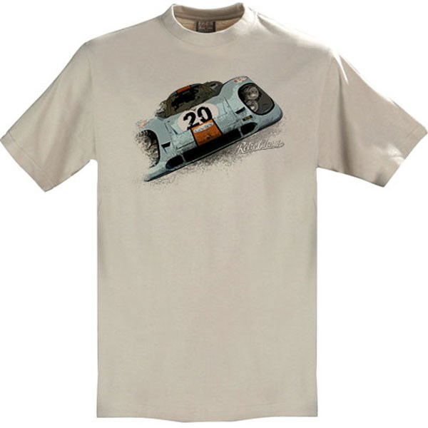 Gritty Marques Gulf Porsche 917 T-Shirt Sand - click to enlarge