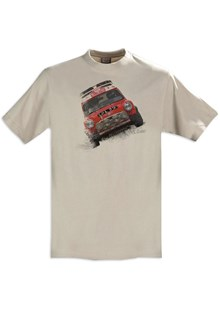 Retro Classic Mini Rally T-Shirt Sand