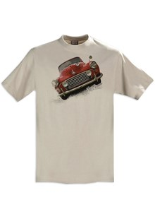 Retro Classic Morris Minor T-Shirt Sand