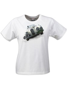 Gritty Marques Jaguar XK120 Ladies T-Shirt White