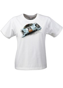 Gritty Marques Gulf Porsche 917 Ladies T-Shirt Sand