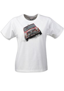 Retro Classic Mini Ladies T-Shirt White