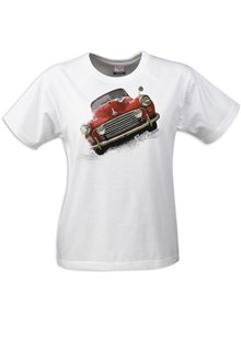 Retro Classic Morris Minor Ladies T-Shirt White