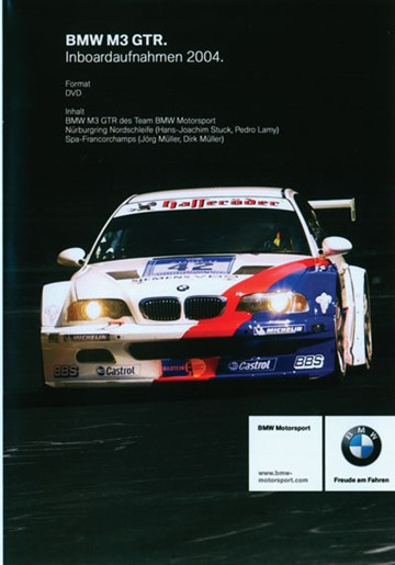 In Car Nurburgring  BMW M3 GTR DVD - click to enlarge