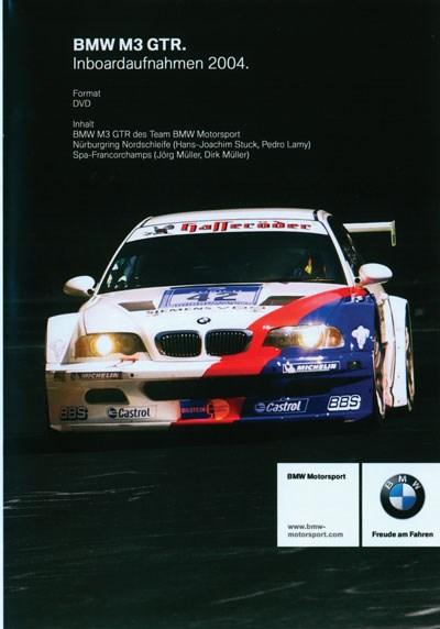 In Car Nurburgring  BMW M3 GTR DVD