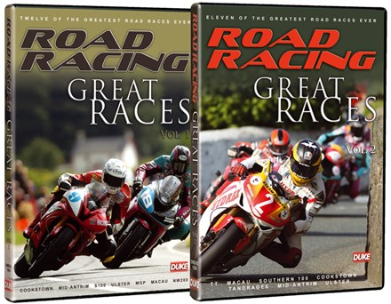 Road Racing Great Races Vol 1 & 2 DVD Bundle