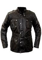 RST IOM TT Classic Wax 3/4 Length 1246 Jacket Black