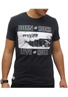 Primo Born to Rock Live to Roll T-Shirt Black