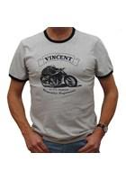 Vincent Black Shadow (Mens) Grey Marl T-Shirt
