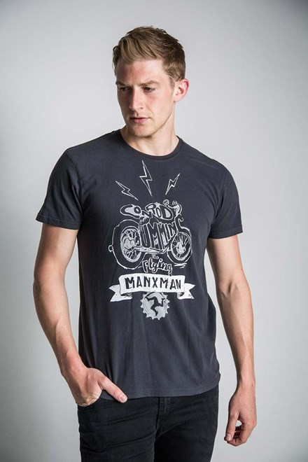 Flying Manxman (Mens) Black T-Shirt