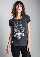 Flying Manxman (Ladies) Black T-Shirt