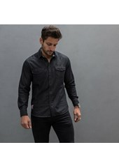 Ton Up Long Sleeved Black Denim Shirt