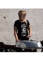 John McGuinness Tough Nut Ladies T-Shirt Black