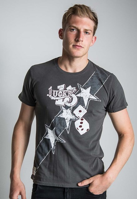 General Lee (Mens) Graphite T-Shirt - click to enlarge