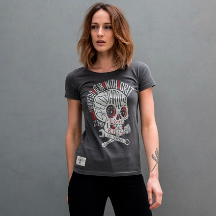 Speed Punk Ladies T- Shirt Graphite