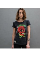 Rasta Punk Ladies T- Shirt Black