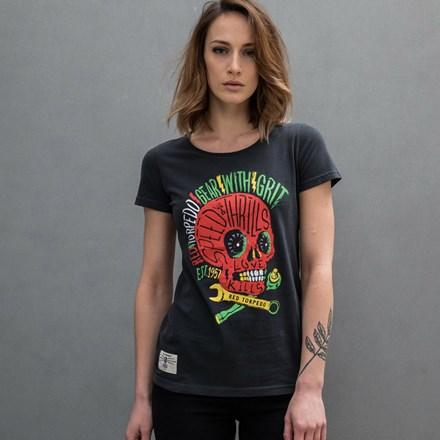 Rasta Punk Ladies T- Shirt Black