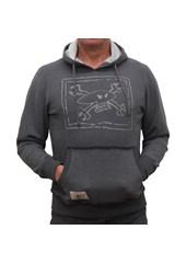 Chalkskull (Mens) Graphite/Silver Hoodie