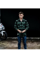V-Twin Long Sleeved Check Shirt Racing Green