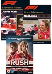 Rush DVD, Grand Prix Hero Hunt and Grand Prix Hero Lauda 3 DVD Set