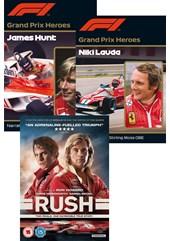 Rush DVD, Grand Prix Hero Hunt and Grand Prix Hero Lauda 3 DVD Set