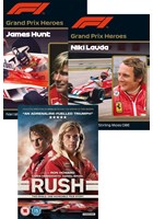 Rush Blu-ray, Grand Prix Hero Hunt and Grand Prix Hero Lauda 3 DVD Set