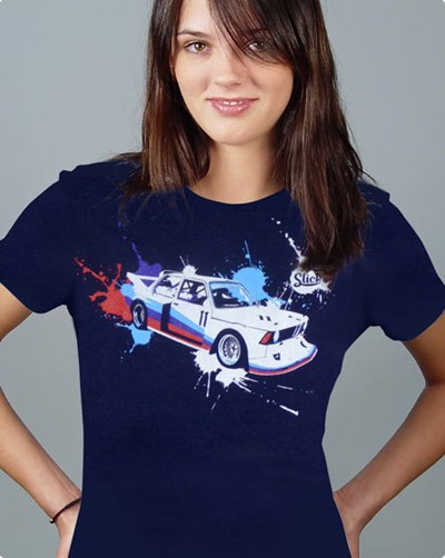 320i Ladies T Shirt Navy - click to enlarge
