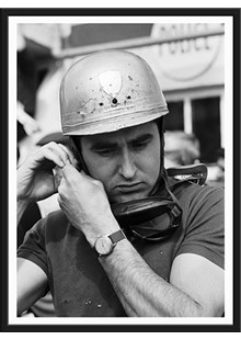 Lorenzo Bandini with helmet Limited Edition Framed Print