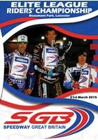Speedway Great Britain 2015 Elite League Riders' Championship DVD