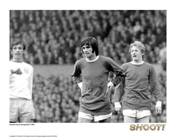 Shoot Legends - George Best and Denis Law Print - click to enlarge