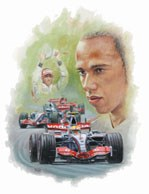 Rising Star - Lewis Hamilton Ltd Edition Print.