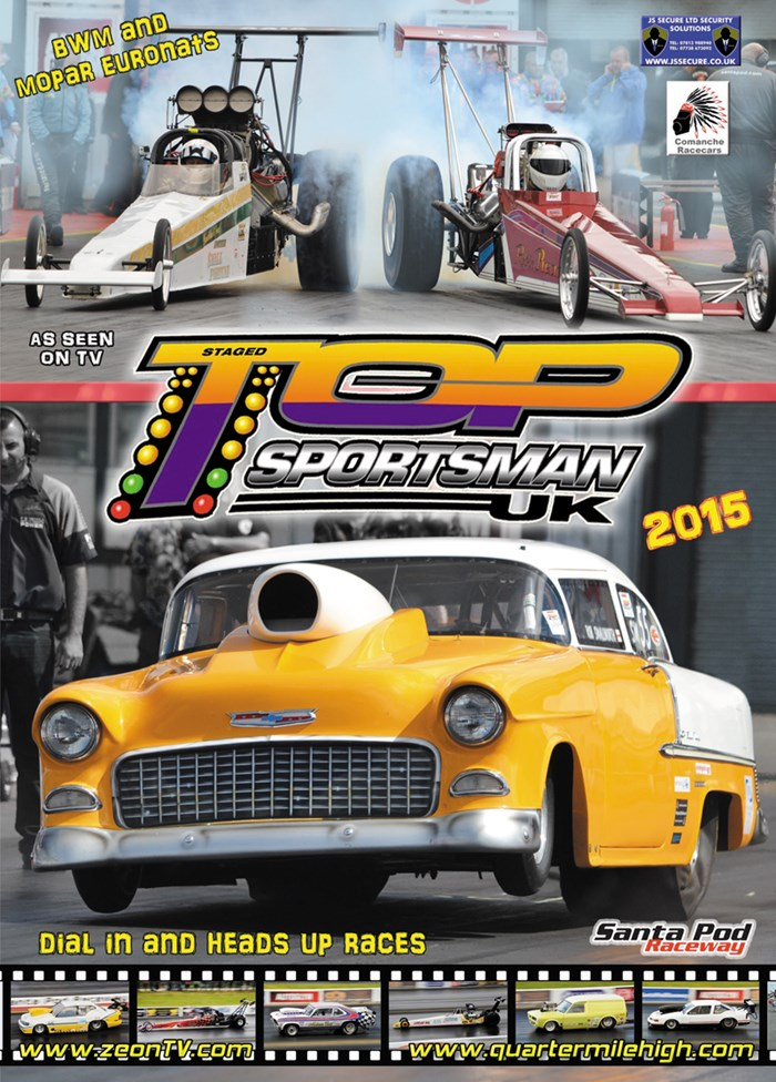 UK Top Sportsman & Top Dragster 2015 DVD