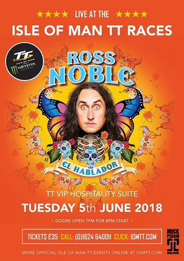TT 2018 - Ross Noble - Hospitality Suite 5th June - click to enlarge