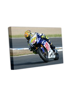 Valentino Rossi 2009 Spanish GP A2  Canvas Print