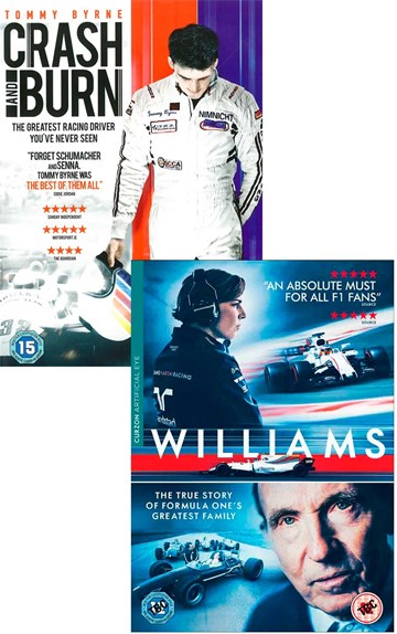 Williams DVD with Crash & Burn DVD - click to enlarge