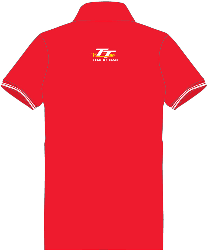 Tt 2014 polo shirt red isle of man tt official shop for Spain polo shirt 2014