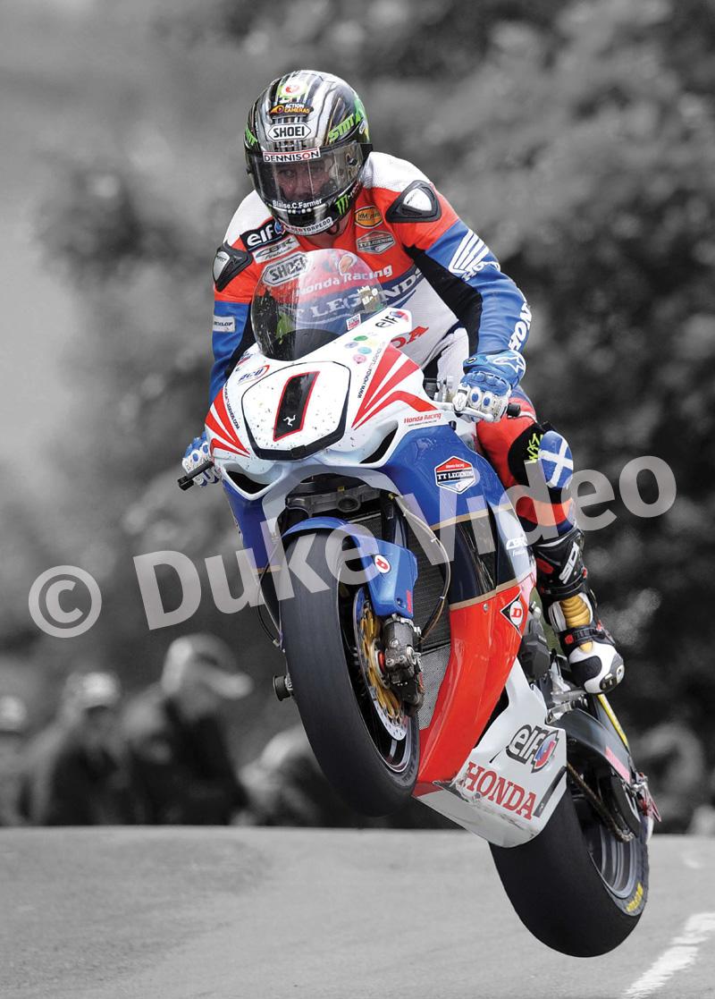 John Mcguinness Tt 2011 Superbike Acrylic Duke Video Tt2011 Sidecars
