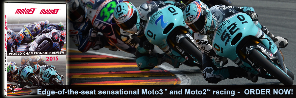 Order Moto2 and Moto3 2015 on DVD today