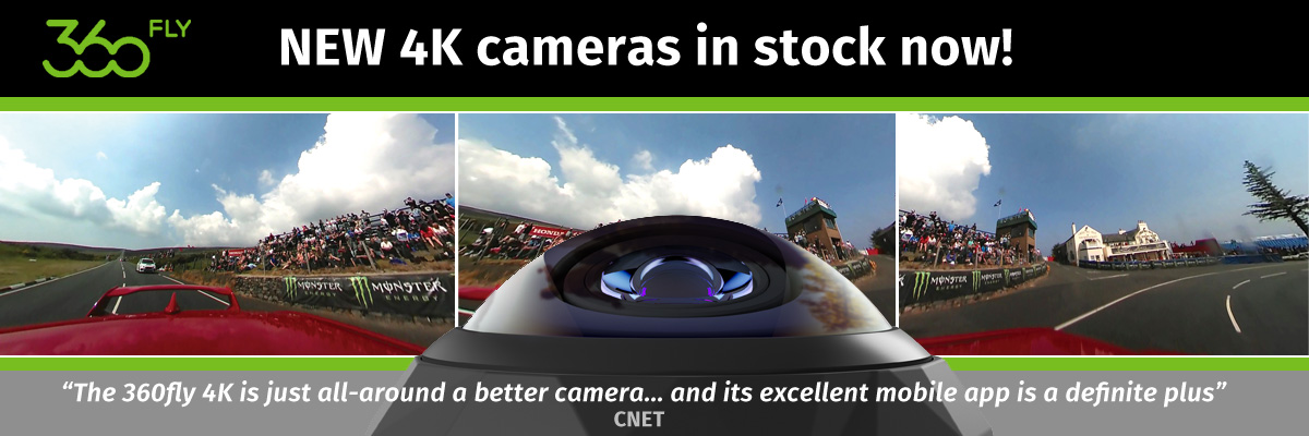 NEW 4K 360FLY cameras in stock now!