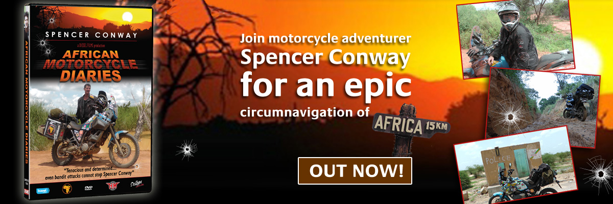 Spencer Conway's African Motorcycle Diaries