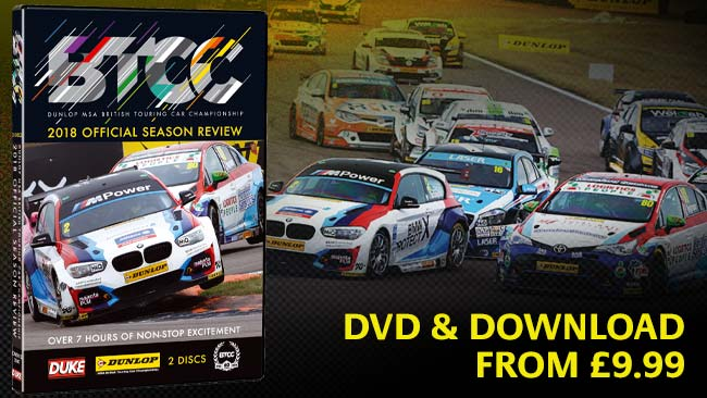 DVD and download available for 2018 BTCC official review