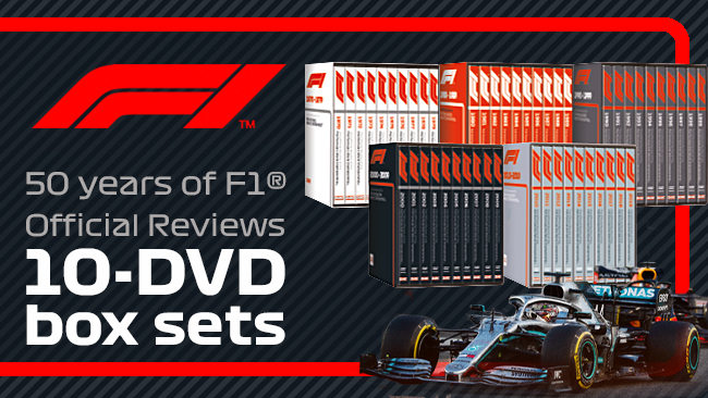 Official Formula 1 box sets. Five decades of incredible racing action