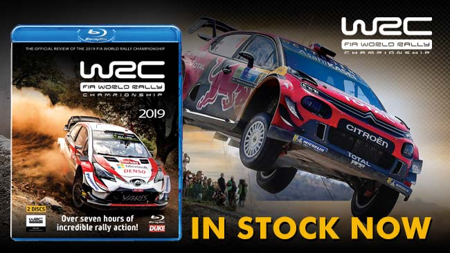 2019 Official Review of the World Rally Championship in stock now on DVD and Blu-ray
