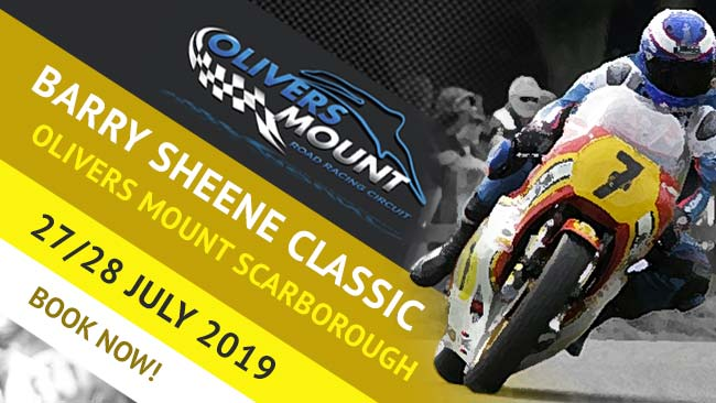 Barry Sheene Classic Olivers Mount Scarborough. Tickets on sale now via Duke Video