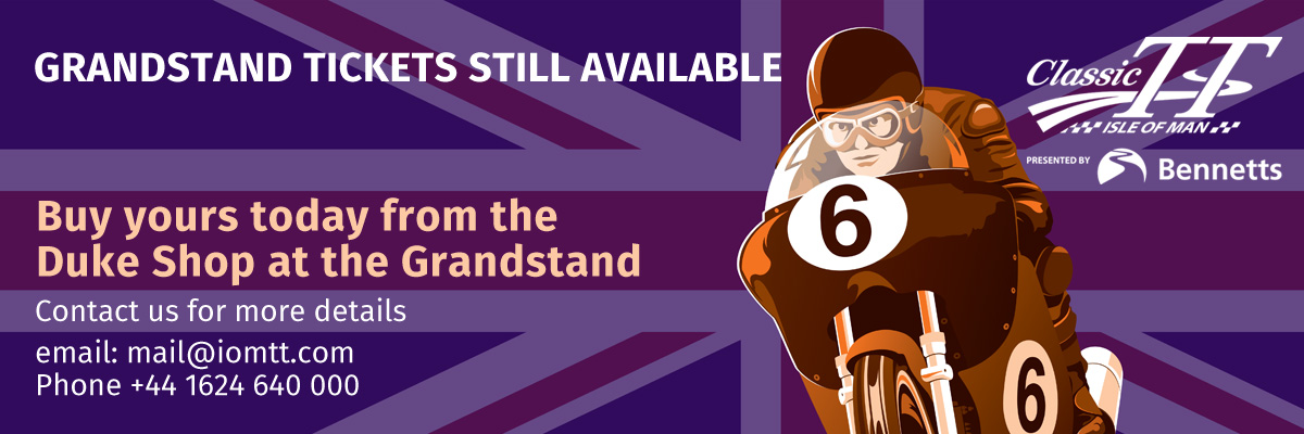 Grandstand Tickets available at the Duke Sop